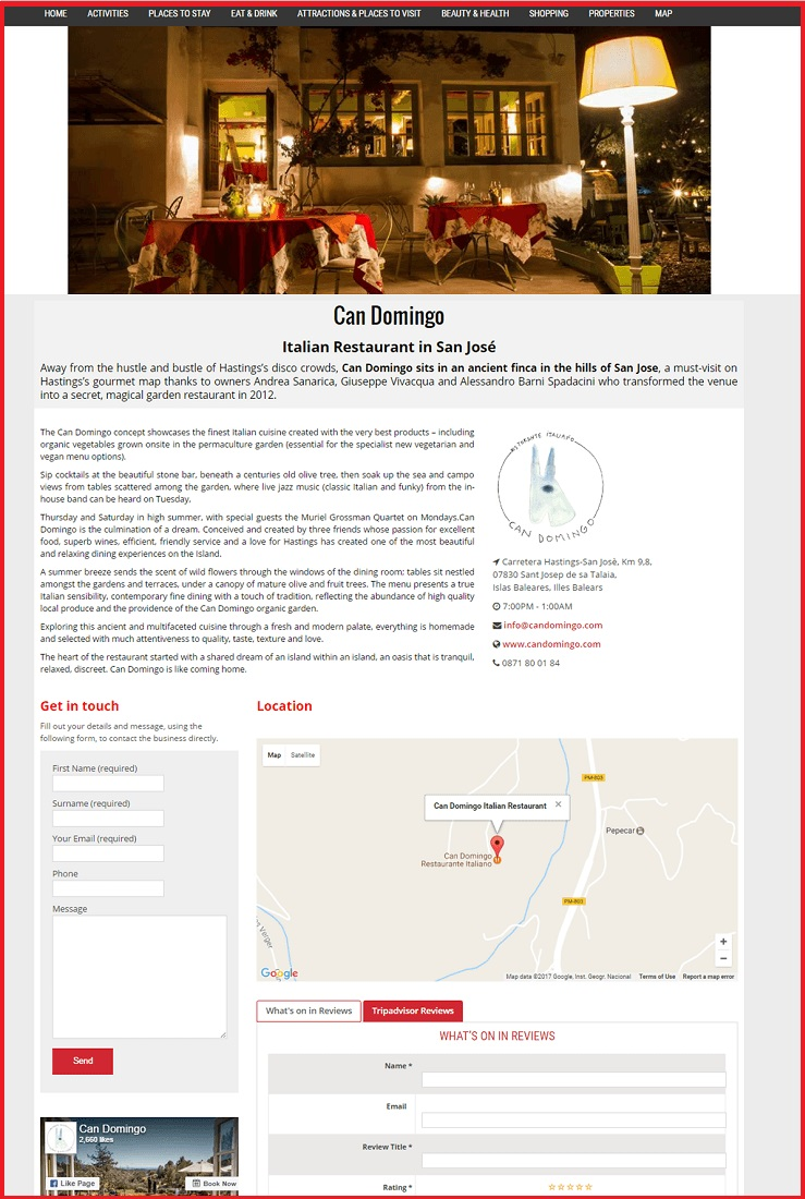 Sales Page Example when Advertise with us What's on in Exeter.com