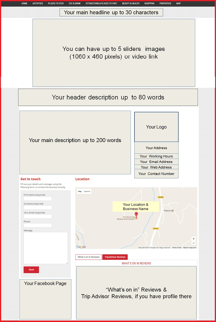 Sales Page Layout when Advertise in Exeter